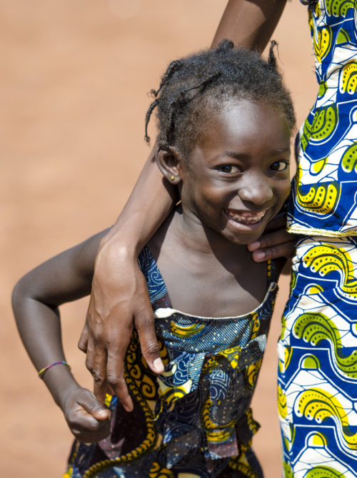 Couple of black people embracing with a big smile in Bamako, Mali (Africa).